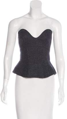 Isabel Marant Strapless Merino Wool Top