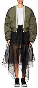 BEIGE BLINDNESS Women's Embellished Padded Bomber Jacket - Beige, Tan
