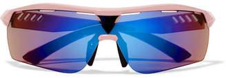 Stella McCartney Turbo Wrap D-frame Acetate Mirrored Sunglasses - Blue
