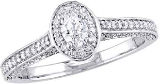Affinity Diamond Jewelry Affinity 14K Gold 7/10 cttw Oval-Cut Diamond Halo Ring