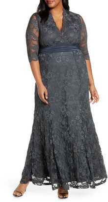 Kiyonna Screen Siren Lace Evening Gown