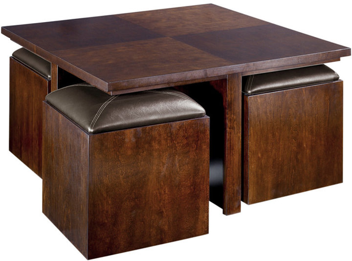 Pelham Square Cocktail Table With Four Storage Cubes Sold Out