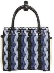 Nancy Gonzalez Mini Woven Crocodile Box Bag