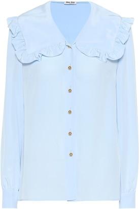 Miu Miu Silk crepe de chine blouse