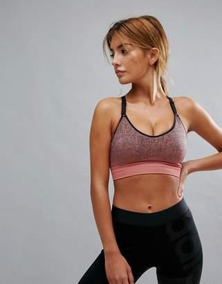 adidas Training Light Support Seamless Bra In Pink
