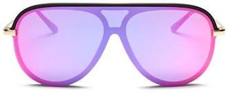Quay Women's x JLO Empire Shield Aviator Sunglasses, 57mm
