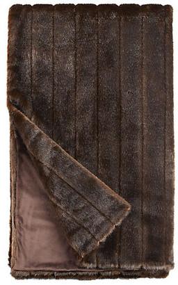 Fabulous Furs Faux-Fur Throw - Carved Sable - Fabulous-Furs