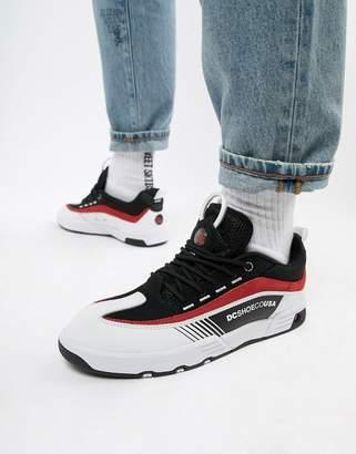 DC Legacy 98 Slim Sneaker in Black & Red