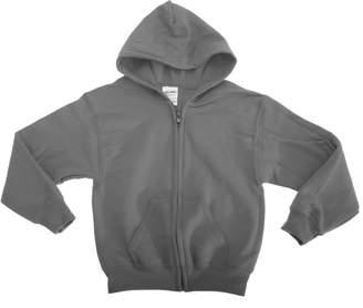 Gildan Heavy Blend Unisex Childrens Full Zip Hooded Sweatshirt / Hoodie (XL)