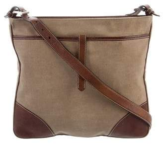 Prada Leather Trim Messenger Bag