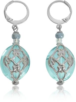 Antica Murrina Florinda Light Blue Murano Glass Earrings $48 thestylecure.com