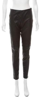Ralph Lauren Black Label Leather Skinny-Leg Pants