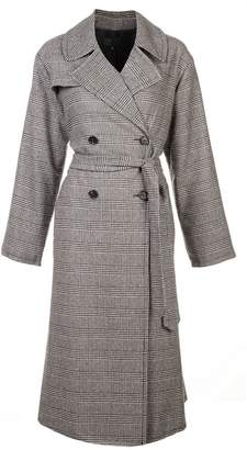 Nili Lotan double breasted check coat