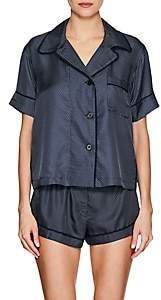 Araks Women's Shelby Silk Pajama Top - Dk. Blue
