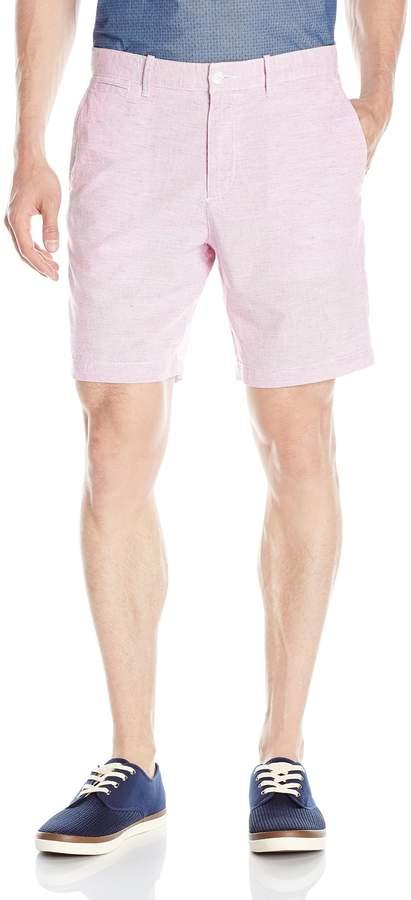 Original Penguin Men's Cotton-Linen 8-In Stripe Slim Fit Short