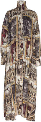 Acne Studios Dianthe Collared Half-Zip Linen-Blend Maxi Dress