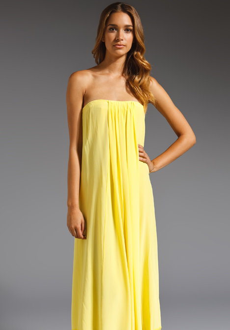 Tibi Hannah Silk Strapless Dress