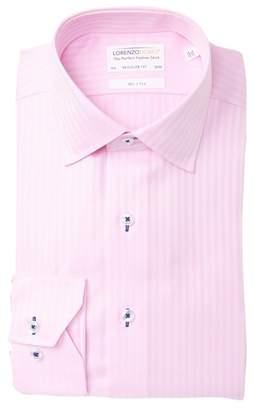 Lorenzo Uomo Chevron Dobby Regular Fit Dress Shirt