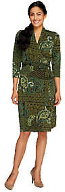 Liz Claiborne New York Petite Printed Knit WrapDress