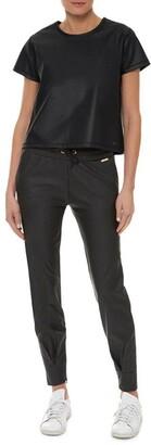 Sweaty Betty Danca Leather Look Sweat Pants