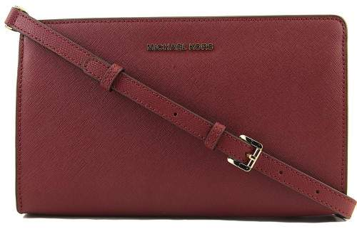 Michael Kors Large Jet Set Crossbody Clutch- Mulberry - MULBERRY - STYLE
