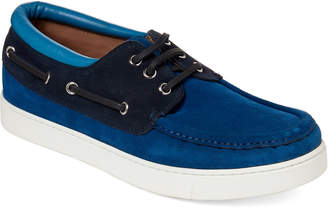 Gianvito Rossi Cobalt Leather Sloop Boat Shoes