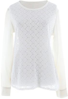 Equipment White Lace Tops
