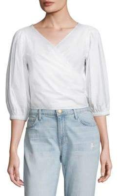 Elizabeth and James Haven Poplin Cropped Top