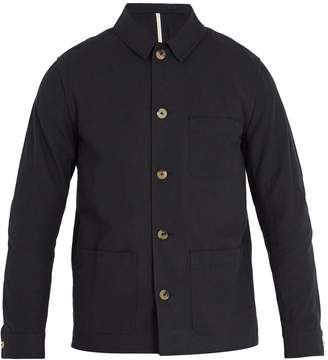 DE BONNE FACTURE Point-collar slub-cotton canvas jacket