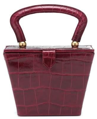 Staud Mini Sadie embossed leather box bag