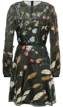 Valentino Silk-organza Fil Coupe Mini Dress