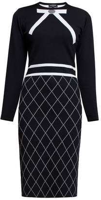 Chloé Rumour London Bow Jacquard Knitted Dress