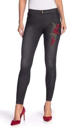 Zeza B Rose Embroidered Denim Leggings