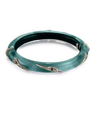 Alexis Bittar Origami Hinge Bracelet, Green $195 thestylecure.com