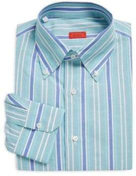 Isaia Regular-Fit Striped Dress Shirt