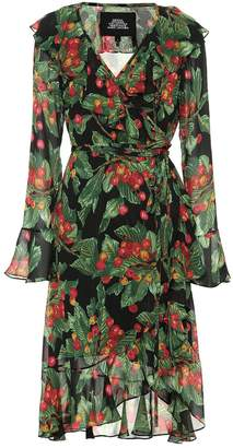 Marc Jacobs Cherry-print Crepe Wrapped Dress