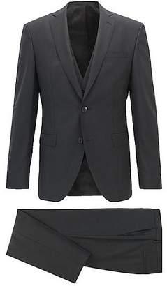 HUGO BOSS Extra-slim-fit three-piece suit in stripe structured virgin wool
