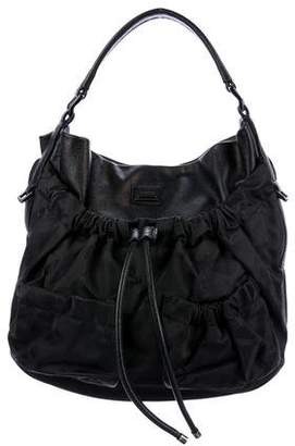 Burberry Leather Drawstring Hobo