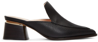 Nicholas Kirkwood Black Leather Beya Mules