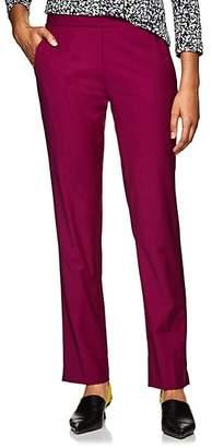 Derek Lam Women's Worsted Wool-Blend Slim Trousers - Plum