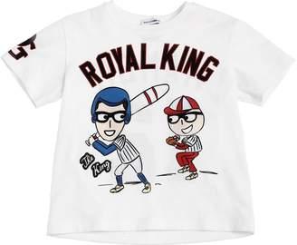 Dolce & Gabbana Designers Baseball Cotton Jersey T-Shirt