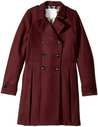 Burberry Double Breasted Coat Girl's Coat