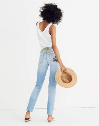 Madewell The Petite Perfect Summer Jean: Strawberry Embroidered Edition