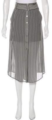 A.L.C. Striped Midi Skirt
