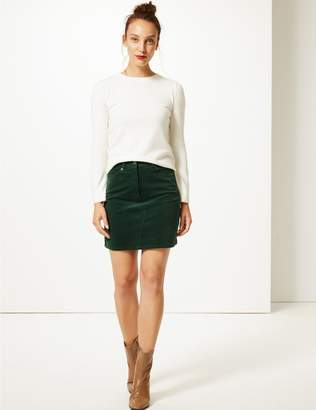 Marks and Spencer Corduroy A-Line Mini Skirt