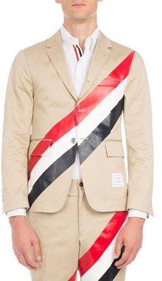 Thom Browne Tricolor-Striped Three-Button Blazer $1,790 thestylecure.com