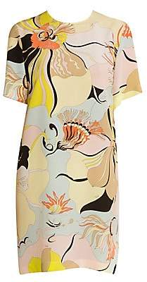 Emilio Pucci Women's Mirabilus Crepe De Chine Shift Dress