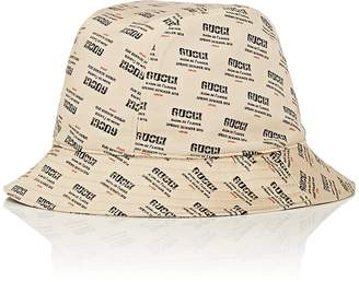 Gucci Men's Logo-Print Silk Satin Bucket Hat