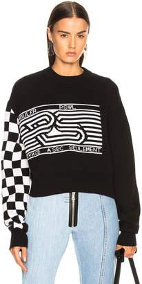 Proenza Schouler Pswl Checkerboard Jacquard Crewneck Sweater