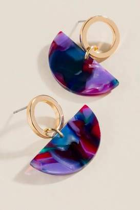 francesca's Kierra Crescent Drop Earrings - Multi